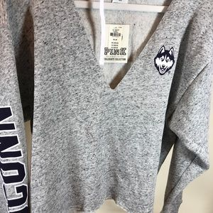 Pink Collegiate Collection UCONN Hoodie